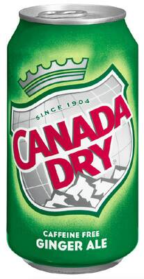 CANADA DRY GINGER ALE CANS
