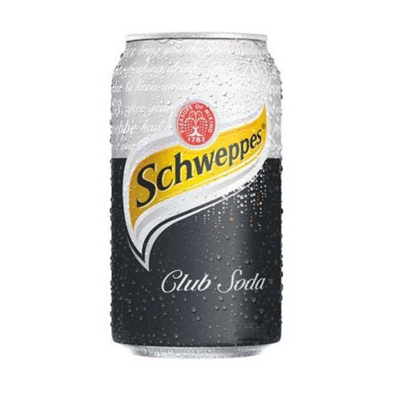 SCHWEPPS CLUB SODA CANS